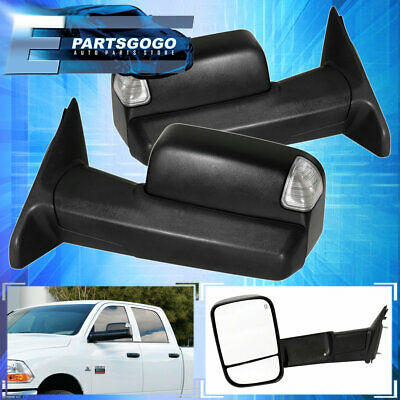 2009-2012 Ram 1500 10-12 2500 3500 Tow Towing Power Heated Puddle LED Mirrors