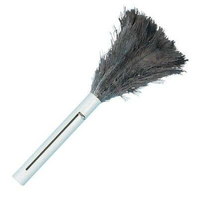 Actually Traps + Holds Dust.  Ostrich Retractable Feather Duster, Extends 14""