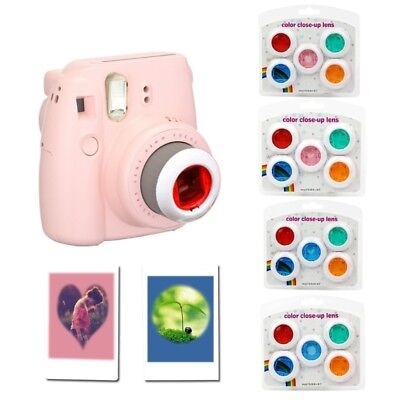 For Fujifilm Instax Mini 7s/8/8+/9 Film Camera 5Pcs Color Filter Close-Up Lens