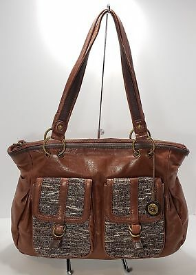 a7ae0d345a THE SAK INDIO Leather Brown Bronze Shoulder Slouchy Hobo Shoulder ...