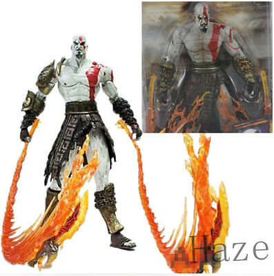 "7"" God of War 2 Kratos flame Action Figure movable in box"