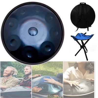 22 inch 9 Notes Hand Pan Handpan Hand Drum Carbon Steel Material Percussion Blue