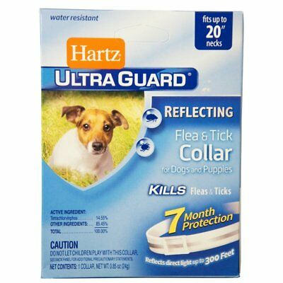HARTZ UltraGuard Reflecting Flea & Tick Collar for Dogs and Puppies up to 20""
