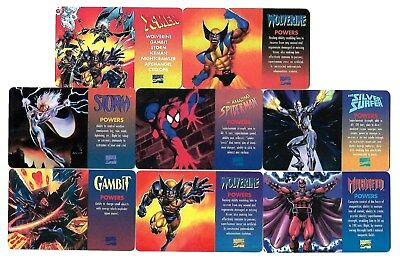 1995 X-MEN MARVEL COMICS Collector's Edition WALLET CARD SET (8) - RARE
