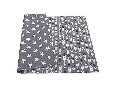 BRAND NEW BABY CARE Reversible ARROWS & STARS Playmat in Grey SP-L13-059