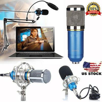 NEW BM-800 Condenser Microphone Studio Recording Mic w/ Stand Shock Mount USA