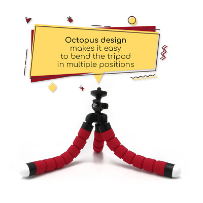 Universal Adjustable Octopus Camera Tripod Holder Stand Mount Smart Phone iPhone