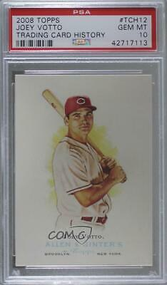 2008 Topps Trading Card History #TCH12 Joey Votto PSA 10 GEM MT Cincinnati Reds