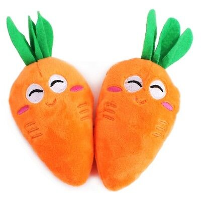 Pet Dog Puppy Cat Soft Carrot Plush Squeaker Squeaky Chew Sound Play Fetch Toys