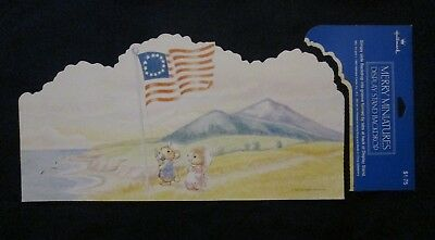 HALLMARK Merry Miniature 1993  Patriotic  Display Backdrop