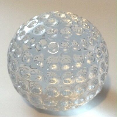 Vintage, Waterford Crystal Golf Ball Figurine, Paperweight, EC