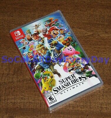 Super Smash Bros. Ultimate (Nintendo Switch) BRAND NEW & FACTORY SEALED!!!!! nsw