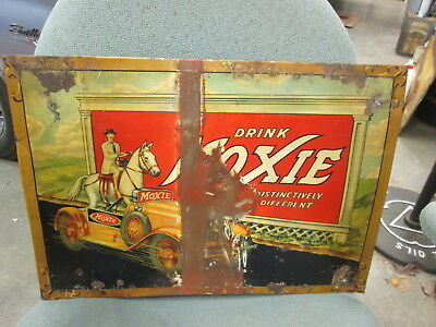 Early Original Moxie Soda Metal Sign 1933