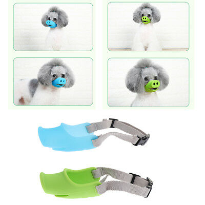 Dog Muzzle Silicone Pig Mouth Pet Training Anti Bark Bite Mouth Cover Guard