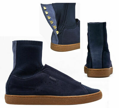 Puma x Poggy 50th Suede Classic Mens Trainers Lace Up Blue Peacoat 366305  01 D73 9bd373b99