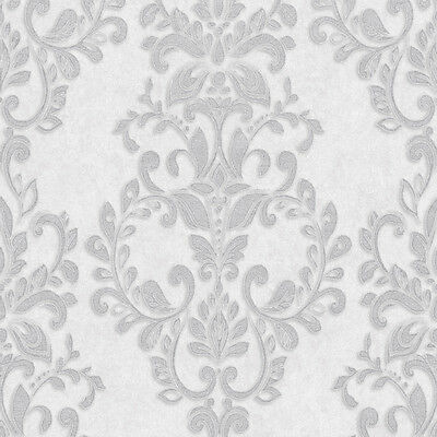 Eijffinger Club Mirror Beaded Chic Modern Flock Feature Wallpaper Silver 310823