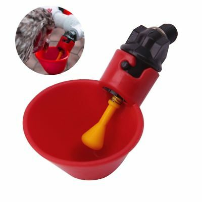 1/5pcs Automatic Cups Chicken Waterer Poultry Chook Bird Water Feeder Drinker