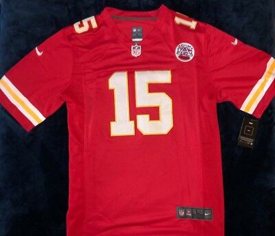 #15 Patrick Mahomes Kansas City Chiefs Mens Red / White Stitched Jersey M - 3XL