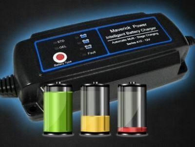 NEW GEL AGM Battery Charger 12v Auto Smart 12Vdc  A 10 Car Boat 4WD Caravan Bike