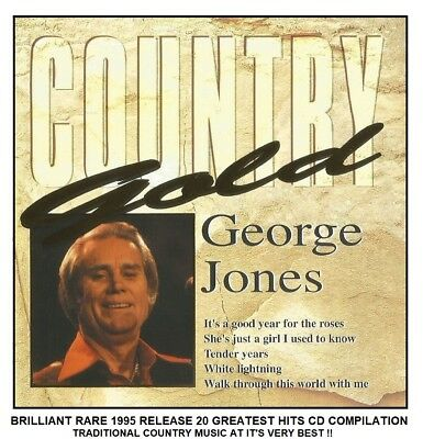 George Jones - Very Best Greatest Hits Collection - Traditional Country Music CD