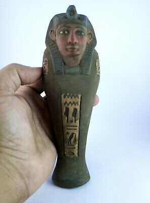 ANCIENT EGYPTAIN USHABTI SHABTI Stone Bc Egypt Antique