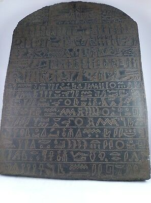 ANCIENT EGYPTIAN ANTIQUE STELA Hieroglyphs Stone 1500 Bc