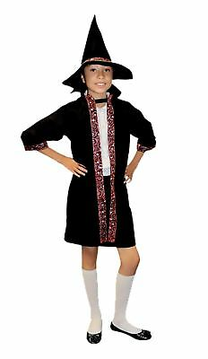 Boys Girls Wizard Costume Child Kids Book Week Day Outfit Fancy Dress Accessory