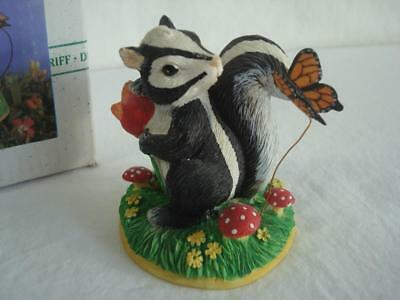 """Darling~Fitz & Floyd~Charming Tails~""""Why, Hello There!""""~Skunk/Butterfly"""