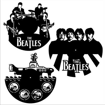 DXF CDR and EPS File For CNC Plasma or Laser Cut Beatles Clocks- Cutting Files