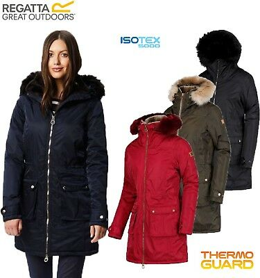 Regatta Ladies LUCASTA Insulated Waterproof Breathable Jacket Coat Womens