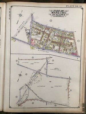 Orig 1929 E. Belcher Hyde MIDDLE VILLAGE QUEENS NY LUTHERAN CEMETERY ATLAS MAP