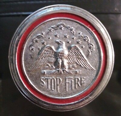 STOP-FIRE AUTOMOBILE FIRE EXTINGUISHER and Bracket vintage still full