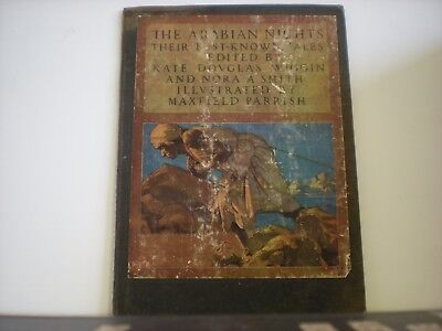 Maxfield Parrish original book cover only from 1921 The Arabian Nights