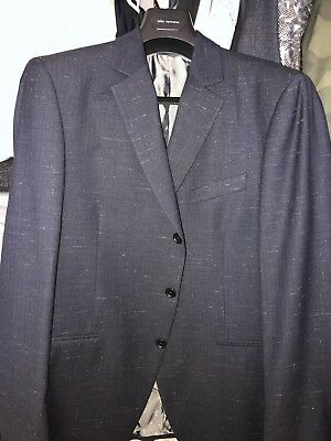 John Varvatos Collection Suit, Jacket 52R, Pants 50R, Made in Italy, 2K Retail