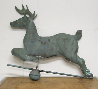 Vintage Leaping Stag Weathervane