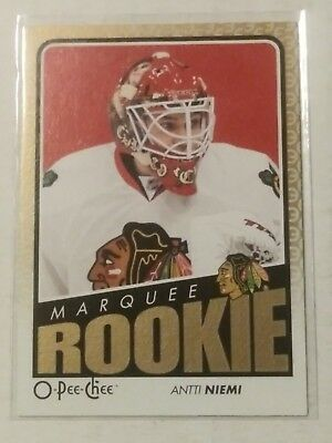 2009-10 OPC O-Pee-Chee ANTTI NIEMI Marquee Rookie RC #548