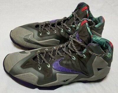 online store d7f11 5f2dc Nike Lebron XI 11 Terracotta Warrior Size 12 616175-005 Shoes Grey Purple