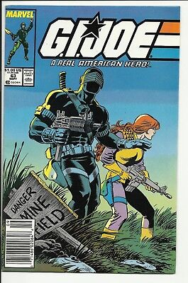 G.I. Joe a Real American Hero #63 - Snake-eyes cover - Marvel Copper - NM- 9.2