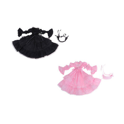 Pretty Swan Dance Dress With Headband For 1/3 BJD Night Lolita Dolls Clothes