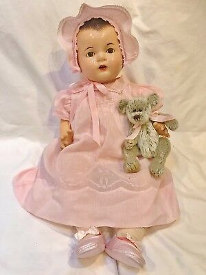 "1935 Madame Alexander RARE 24"" Dionne Quint Quintuplet Yvonne Compo Baby Doll"