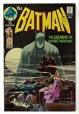 BATMAN Swipe Detective comics 31 issue 227 FN- 5.5 1970 Neil Adams