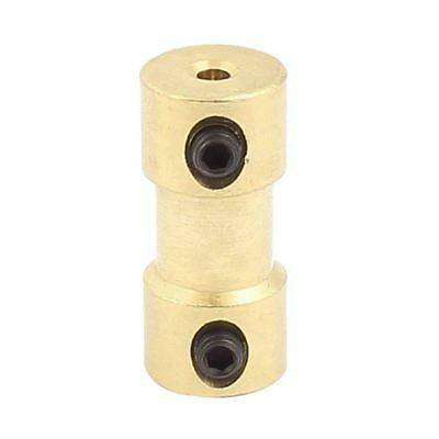 2mm to 2mm Copper DIY Motor Shaft Coupling Joint Connector for Electric Car W1R9