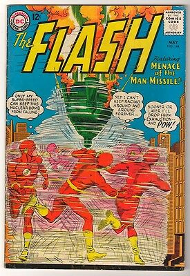 DC Comics FN- FLASH  #144  MENACE OF MAN MISSILE  superman JLA  batman
