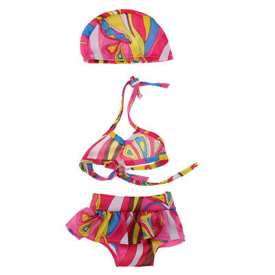 3pcs Sweet Bikini Suit Swimsuit for 18inch American Girl Doll Accessories