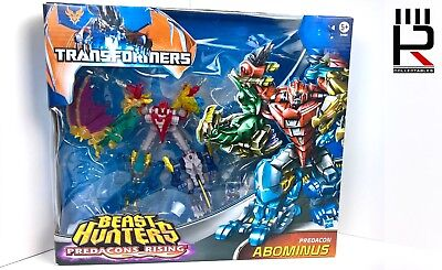 2013 Transformers Beast Hunters Legends class ABOMINUS Team SET: COMPLETE BOXED!
