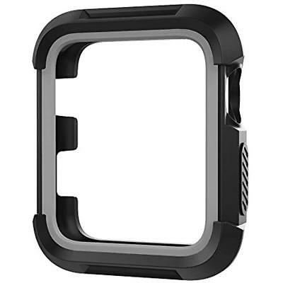 UMTELE Rugged Apple Watch Case 38mm, Shock Proof Bumper Cover Scratch Resistant