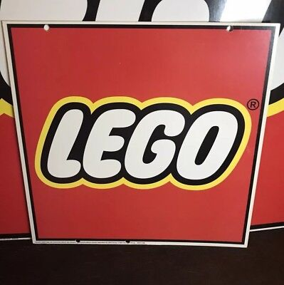 LEGO 1ft x 1ft  Retail Toy Store Double Sided Hanging Advertising Display Sign