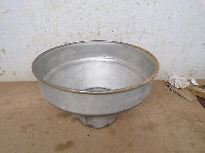 Smaller Old Metal Cream Separator Bowl with Brass Screen
