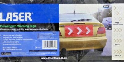 Laser 4264 LED Breakdown Warning Sign, free Postage to UK