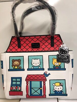 11f15650ad6a Loungefly Hello Kitty Sanrio Characters House Tote   Shoulder   Purse Bag